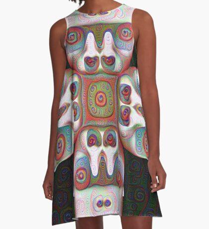 #DeepDream Masks 5x5K v1455625554 A-Line Dress