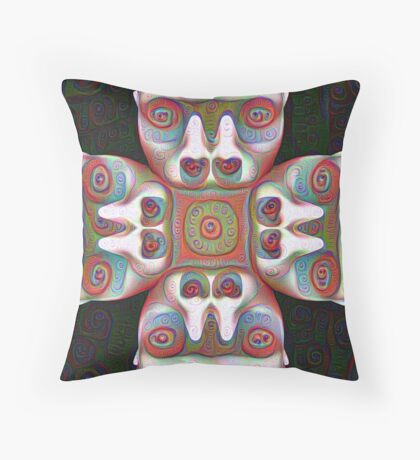 #DeepDream Masks 5x5K v1455625554 Throw Pillow