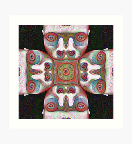 #DeepDream Masks 5x5K v1455625554 Art Print