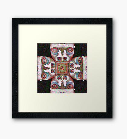 #DeepDream Masks 5x5K v1455625554 Framed Print