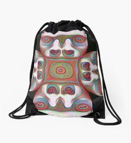 #DeepDream Masks 5x5K v1455625554 Drawstring Bag