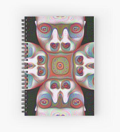 #DeepDream Masks 5x5K v1455625554 Spiral Notebook