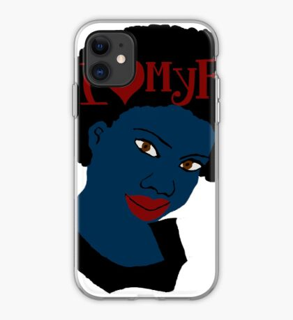 Love Your Beautiful Afro Natural Hair Tshirt iPhone Case