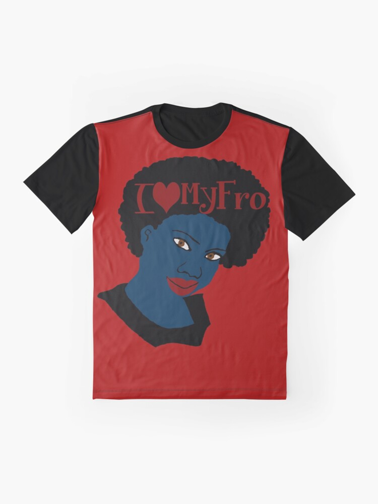 Alternate view of Love Your Beautiful Afro Natural Hair Tshirt Graphic T-Shirt