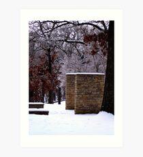 Snow Scene with Icy Trees Art Print