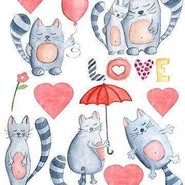 Cute Love Cats by MollySky