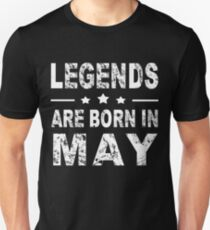 3eae93df Legends are born in May Slim Fit T-Shirt