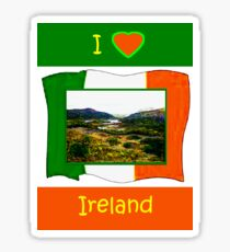 jGibney I Love Ireland 1999 Kerry Lake District Kerry Ireland Flag T-Shirt wb The MUSEUM Red Bubble Gifts Sticker