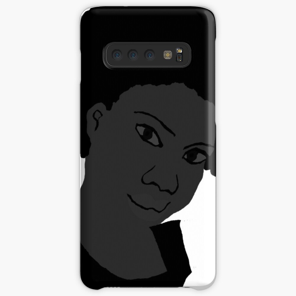 Natural Hair Afro Black & White Afro Tshirt Case & Skin for Samsung Galaxy