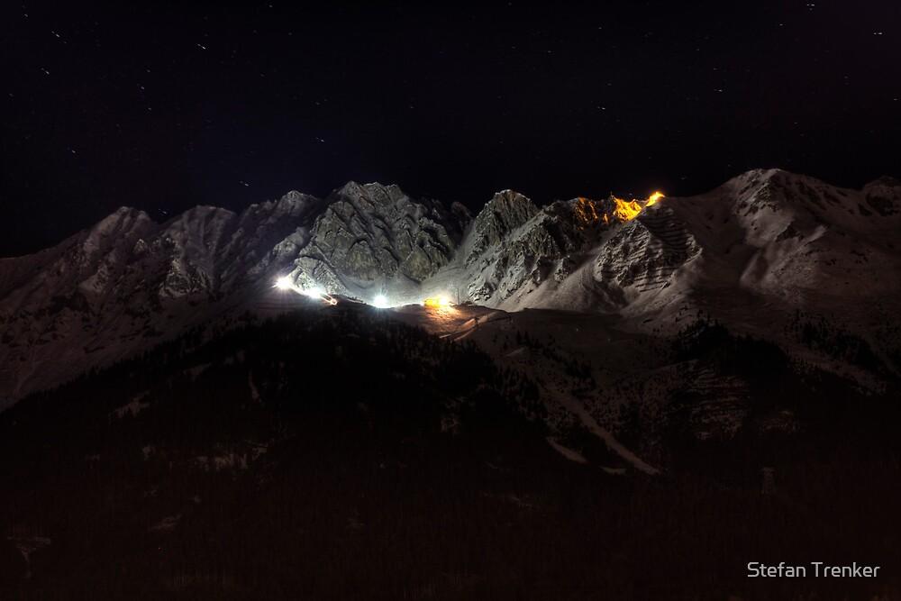 Lit Mountains by Stefan Trenker