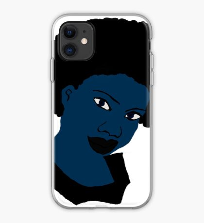 Afro blue Natural Hair Women  iPhone Case