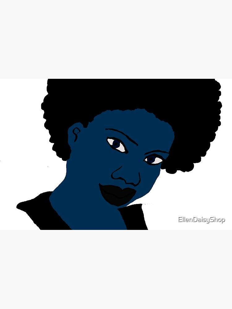 Afro blue Natural Hair Women  by EllenDaisyShop