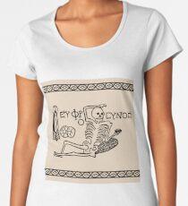 Be Cheerful, Live Well Skeleton Women's Premium T-Shirt