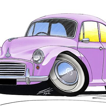 Morris Minor Lilac by yeomanscarart