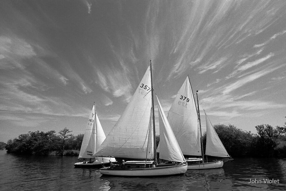 Sailing Boats by John Violet