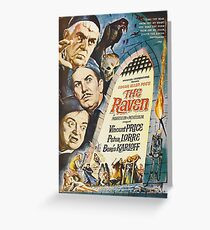 Classic Horror Collection - The Raven. Greeting Card
