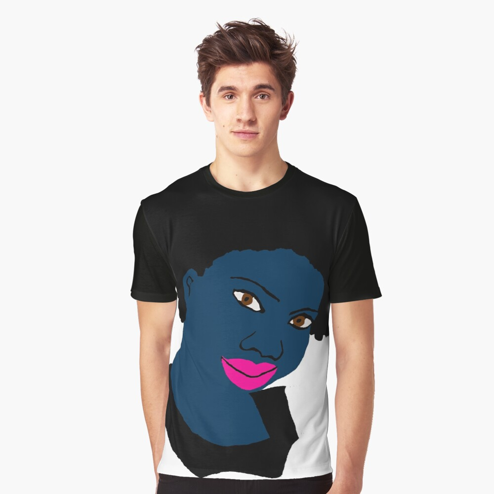 Beautiful Love Your Fro Black Brown Eyes PinkLips Graphic T-Shirt