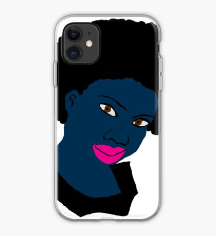 Beautiful Love Your Fro Black Brown Eyes PinkLips iPhone Case