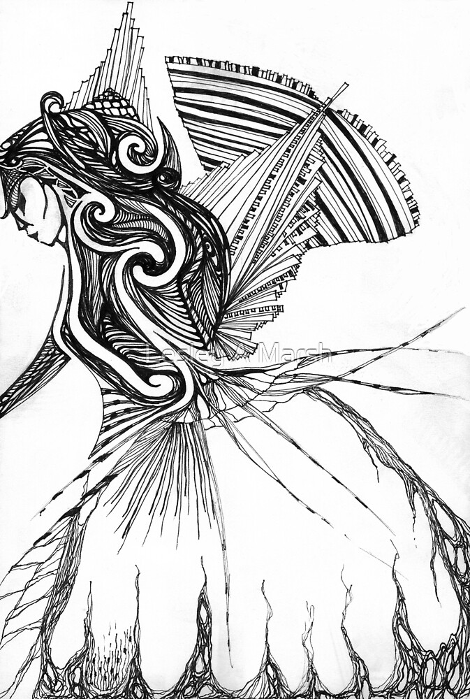 KELKIRK ST. B/W world on her back by Lesley A Marsh