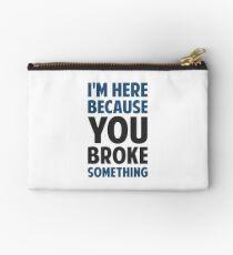 Bolso de mano Estoy aquí porque rompiste algo