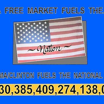 A Free Market vs National Debt by AirbrushedArt