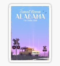 """Sweet home"" Alabama Travel poster  Sticker"