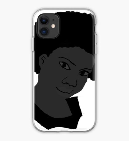 Beautiful Love Your Fro black white Natural Hair iPhone Case