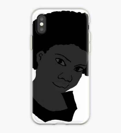 Schöne Liebe Ihr für schwarzes weißes natürliches Haar iPhone-Hülle & Cover