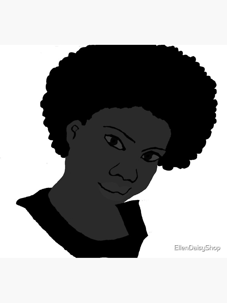 Beautiful Love Your Fro black white Natural Hair by EllenDaisyShop