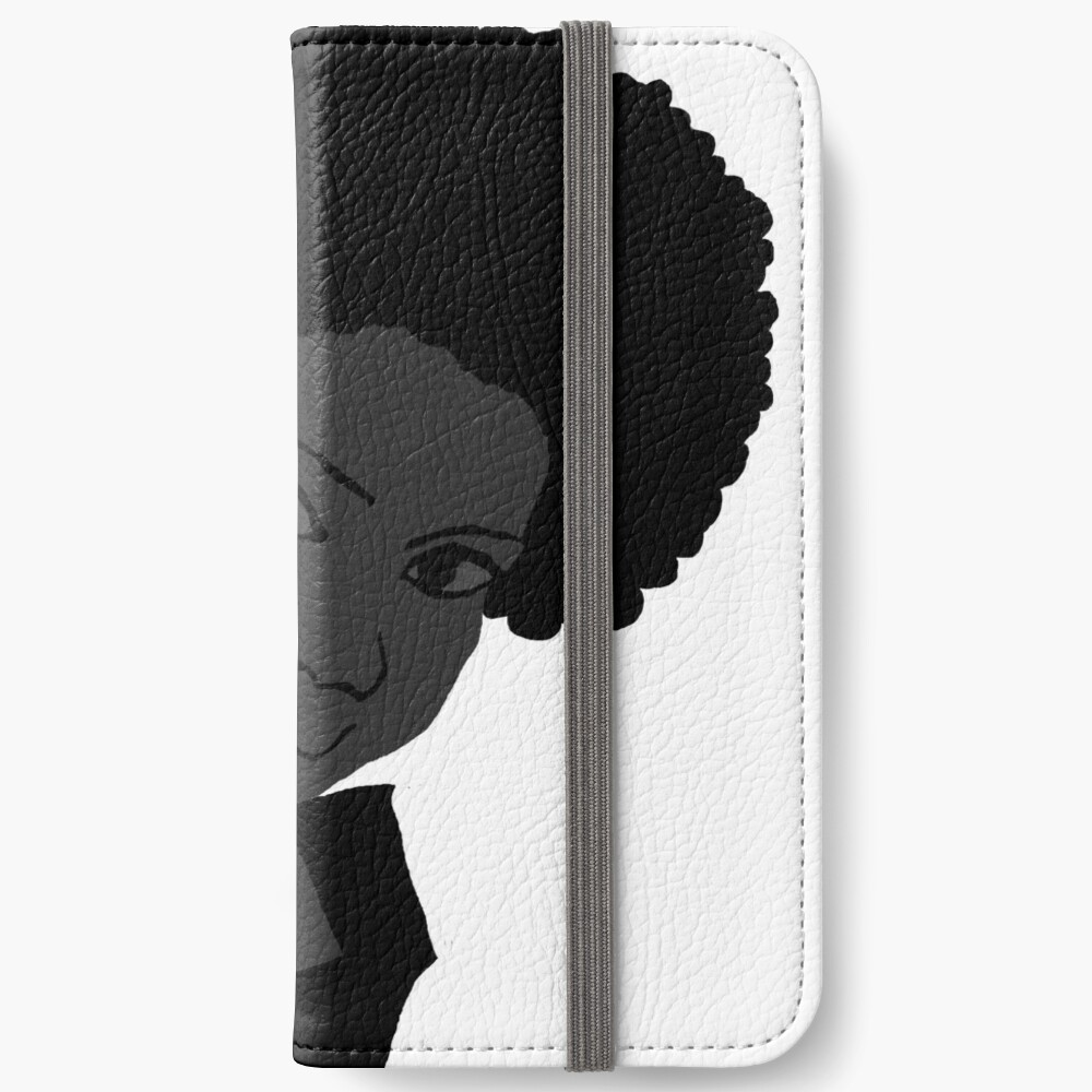 Beautiful Love Your Fro black white Natural Hair iPhone Wallet