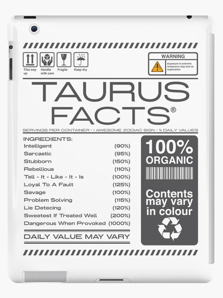 'warning Taurus horoscope Facts Astrological Zodiac' iPad Case/Skin by  bestdesign4u