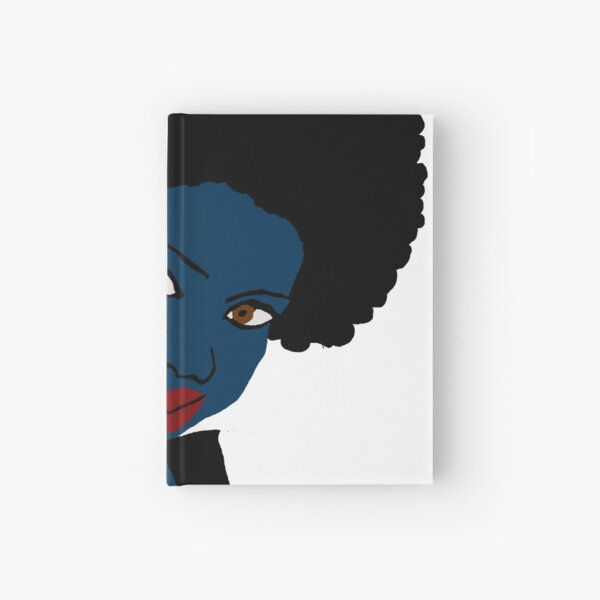 Beautiful Love Your Afro Black Brown Eyes Red Lips Hardcover Journal