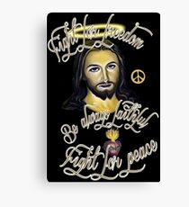FIGHT FOR PEACE Canvas Print