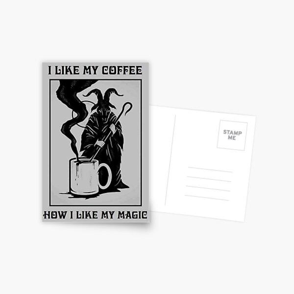 Black Magic Postcard