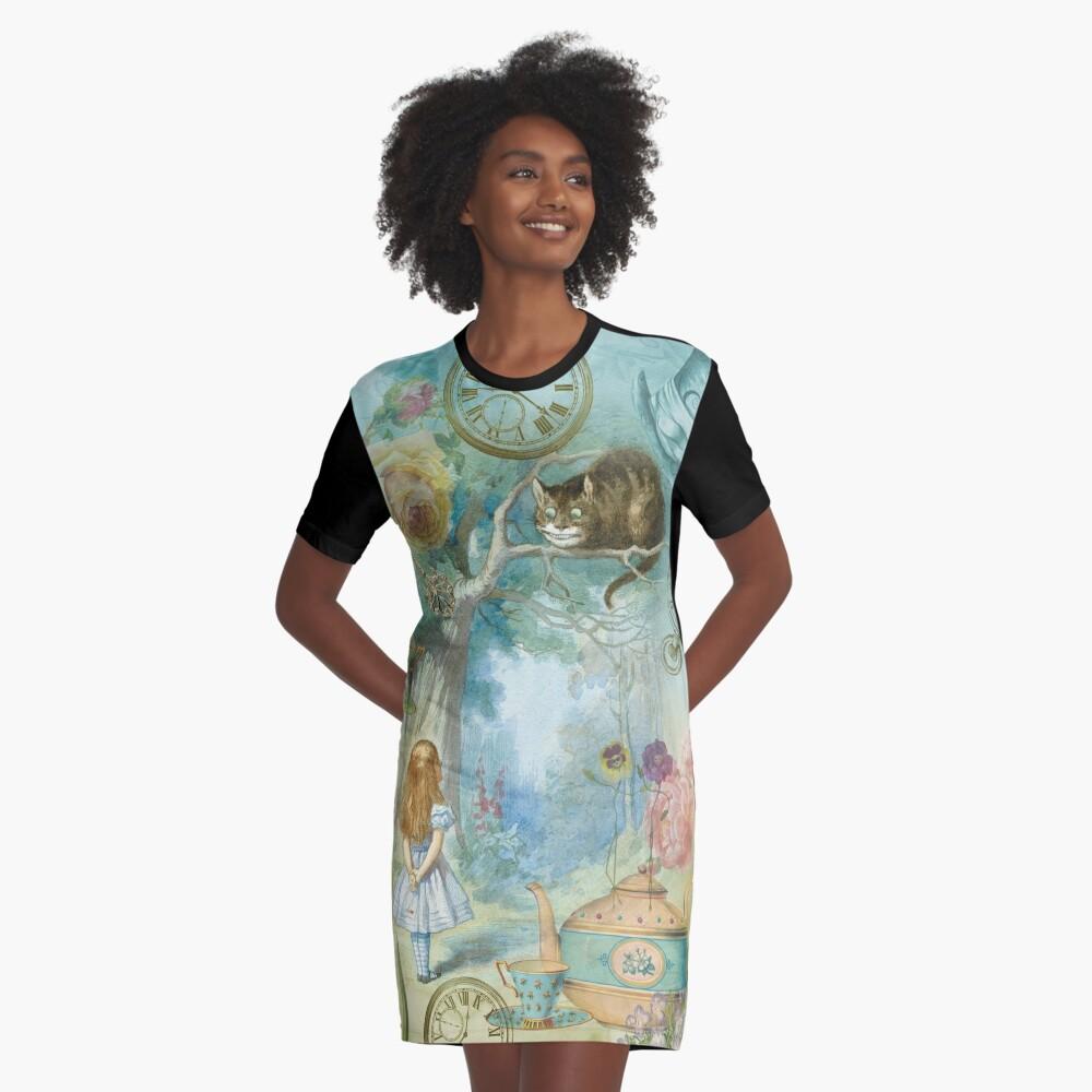 Wonderland Graphic T-Shirt Dress