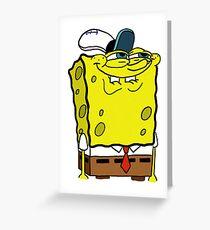 spongebob Greeting Card