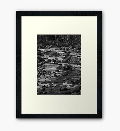 Rocks In The Creek #3 Framed Print