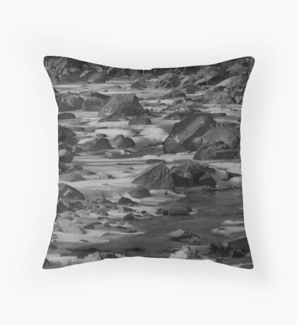 Rocks In The Creek #3 Throw Pillow
