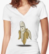 Left-Right : The Mansion // The Banana Women's Fitted V-Neck T-Shirt