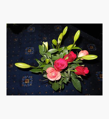 Bouquet of Roses and Lilies Photographic Print
