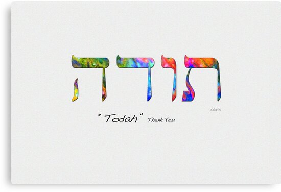 sd Todah Thank You in Hebrew 19H by mandalafractal