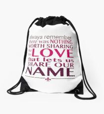 Always Remember - Avett Brothers Drawstring Bag