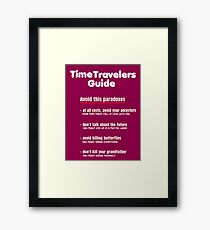 Time travelers guide Framed Print