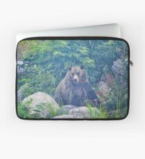 Grizzly in the Mist Laptop Sleeve
