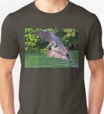 Brown Pelican In Flight T-Shirt
