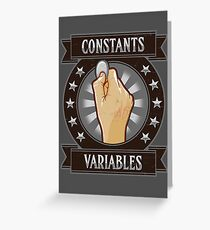 Constants & Variables Greeting Card
