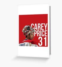 Carey Price Greeting Card