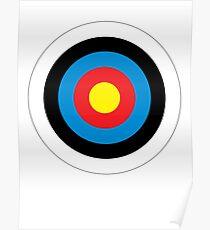 Bulls Eye, Archery, Target, Roundel, Shooting, Hit, Mod, on White Poster