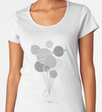 Between planets and balloons. Women's Premium T-Shirt