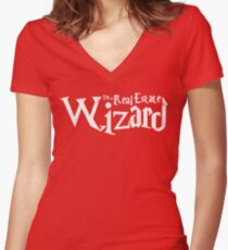 Real Estate Wizard Women's Fitted V-Neck T-Shirt